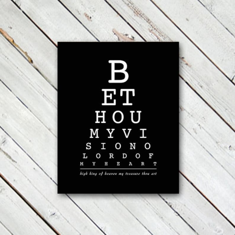 DIGITAL DOWNLOAD // Be Thou My Vision // Subway Art, Typography, Hymn,  Lyrics, Poster, Print, Wall Art, Home Decor, Faith, Eye Chart