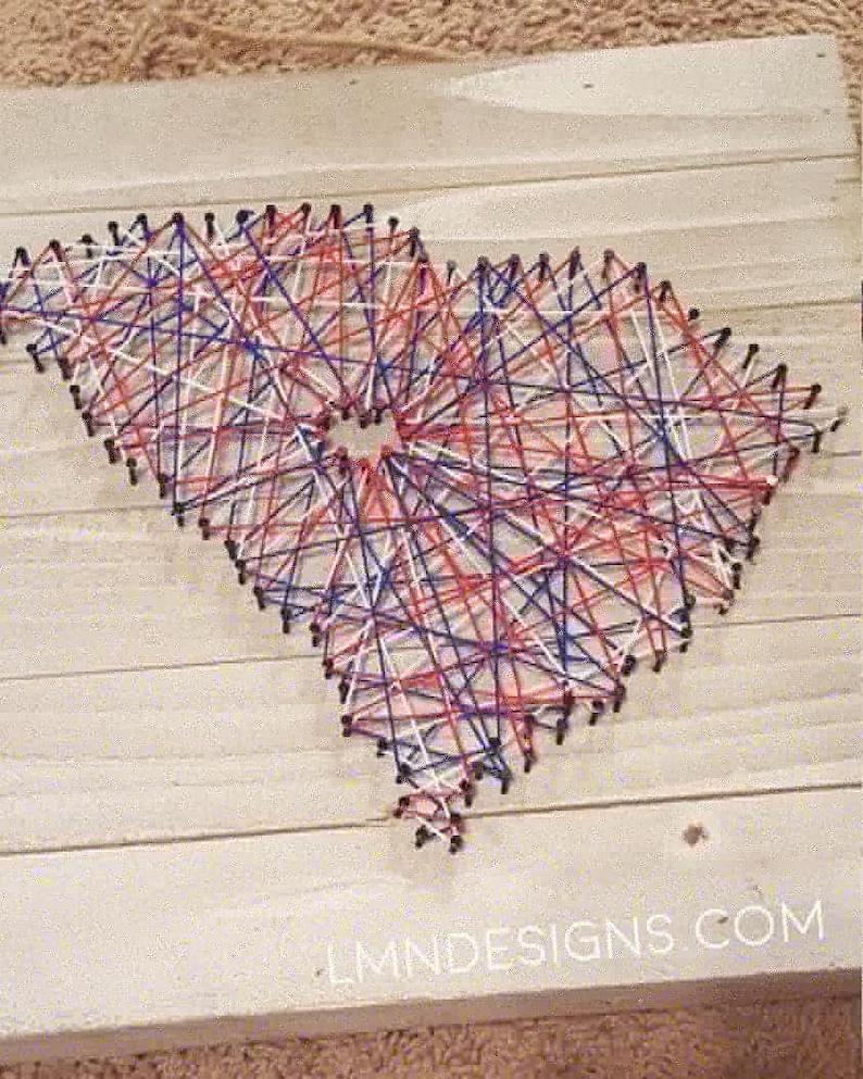 South Carolina String Art (Custom String Colors)