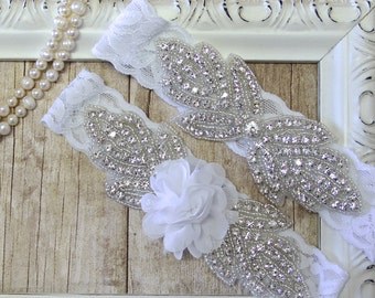 Wedding garter set, Monogrammed garter, lace wedding garter, bridal shower gift for her, garters on sale, blue wedding garter, lace garter