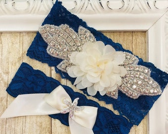 No Slip Beach wedding garter that can be personalized make the perfect Bridal shower gift - with FREE SHIPPING!
