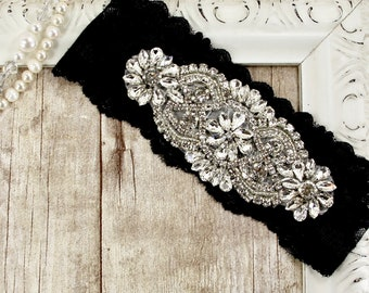 Garter. Hand dyed lace no slip garter that can be monogrammed. Bridal garter available in several colors. Perfect bridal shower gift