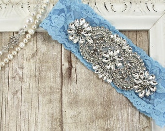 No Slip Wedding garter, Perfect fit stretch lace keepsake garters for wedding or prom. Customizable and personalized garter.