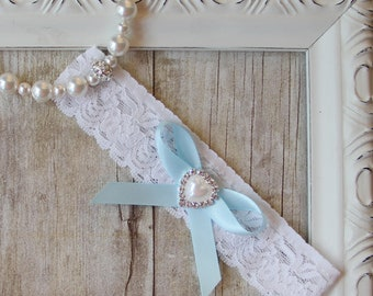 Wedding Garter - Customizable garter with  satin bow on Comfortable Lace, Bridal Garter, prom garter, bridal shower gift, gift for her, prom