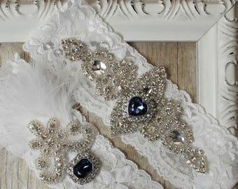 Garter, NO SLIP Wedding garter set, keepsake garter, toss garter, bridal garter, wedding garter, customizable garters, personalized garter