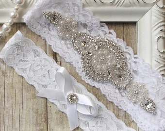 No slip garter. Monogrammed garter. Personalized garters for wedding or prom available in several colors. WT102AA