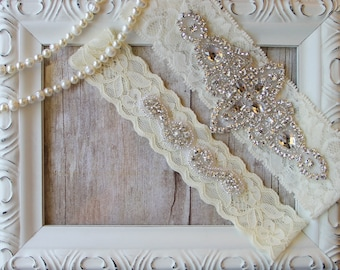BEST SELLER Wedding Garter, Bridal Garter, Wedding Garter Set, Garters for wedding, Ivory Bridal Garter Belt, Wedding Dresses, Prom, Gift