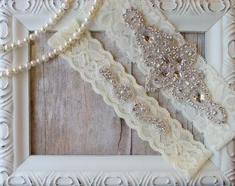 Wedding Garter, Bridal Garter, Wedding Garter Set, Garters for wedding, Monogrammed garter, Wedding Lingerie, Bridal shower gift.