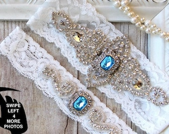 Wedding garter set. No Slip Garters for wedding, prom or bridal shower gift. Customizable and personalized lace garter. Bridal Lingerie.