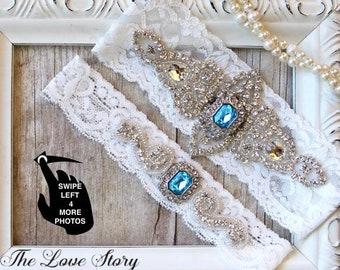 Wedding Garter, NO SLIP GRIP, Bridal Garter, Wedding Garter Set, Garters for Wedding in several colors and sizes, wedding dress, Style A11-2