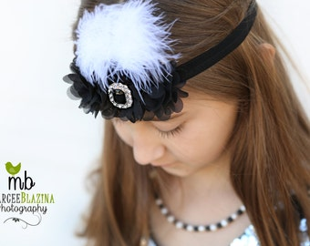 Headband, Baby headbands, custom headband, flapper style headband, Prom headband, Easter Headband, baby girl headband.