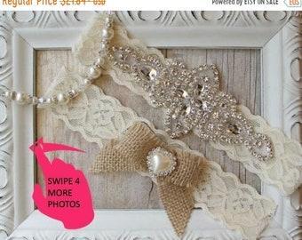 ON SALE Wedding garter set, NO Slip bridal garter, lace wedding garter, bridal shower gift for her, blue wedding garter, rustic garter belt,