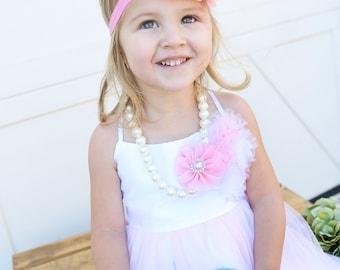 Pink headband, Baby headbands, Flower headband, Pearl headband, Prom headband, Easter Headband, baby girl headband