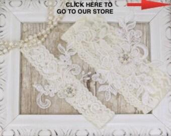 Wedding Garter Set, Best Selling Bridal Garter, Wedding Lingerie, No Slip Garter Set that can be Monogrammed. Style A11221