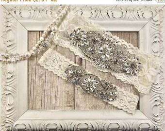 ON SALE Wedding garter set, Monogrammed garter, Customizable NO Slip garter, bridal garter set, bridal shower gift, garters for wedding or p