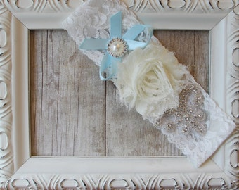 Wedding Garter, Bridal Garter, Something Blue, Monogrammed Garter, Customizable Garter, Wedding Lingerie, Garters for Wedding