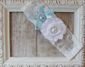 Customizable Wedding Garter, Bridal Garter, Something Blue, Stretch Lace Garter, Prom, Wedding, Toss Garter, Keepsake Garter, Prom Garter