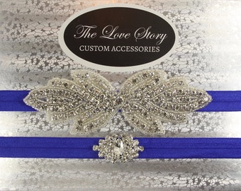 No slip garters for wedding. Wedding garter set available in several colors. Bridal garter for wedding or prom.
