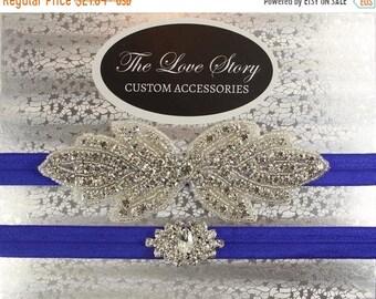 ON SALE No slip garters for wedding. Wedding garter set available in several colors. Bridal garter for wedding or prom.