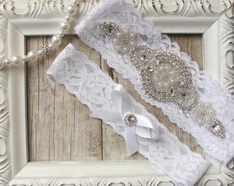 Garter, NO SLIP Wedding garter set, keepsake garter, toss garter, bridal garter, wedding garter, customizable garters, personalized garter,