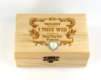 Custom Ring Box, Proposal ring box, wedding/valentines wooden ring box, Engagement Ring Box, Proposal Box, Wedding