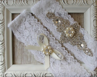Wedding garter, no slip garter, wedding garter set, garters for wedding, bridal garter, wedding garters, lace garter, garter belt,
