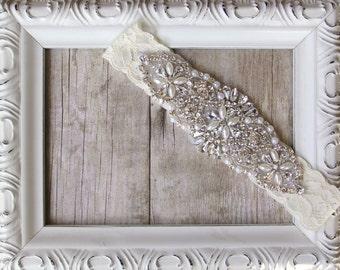 Garter, Customizable Vintage Wedding Garter, Pearl Garter, Bridal Garter, Crystal Garter, Prom Garter, wedding garter, wedding dress