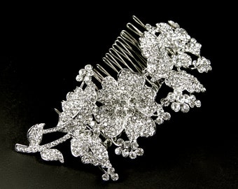 Bridal Hair Comb, crystal bridal comb, wedding veil comb, rhinestone bridal comb, crystal hair comb, wedding hair comb, vintage hair comb