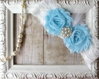 Garter - Personalized Wedding Garter, Bridal Garter, Something Blue, Stretch Lace Garter, Blue Garter, Wedding dresses, Gift for her