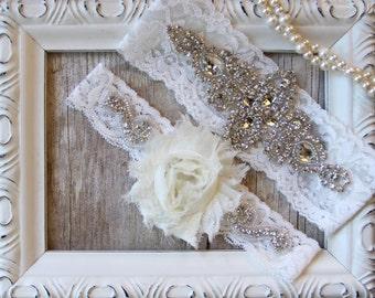 Wedding garter set, Prom Garter, garter, Something Blue, Crystal Garter, Bridal Garter, Bridesmaid Gift, Bridal accessories, wedding, garter