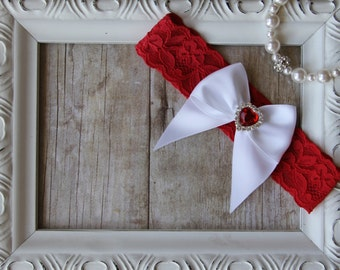 Customizable Wedding Garter / Vintage Bridal Garter / Toss Garter / Lace Garter / Crystal Garter / Prom Garter / Holiday Garter / Patriotic