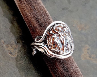 The Three Graces Ring in Oxidized Sterling Silver