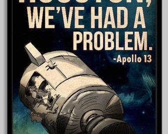 Apollo 13 Space Poster