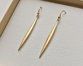 Simple Bronze Pod Earrings