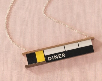 Retro Diner Necklace by Tiny Scenic - gift for Americana fans