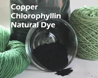 Copper Chlorophyllin Chlorophyll Natural Plant Dye for Yarn Protein Dyes Earth Friendly Fiber Wool Silk Mordant Green