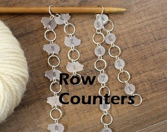 Row Counter Knitters Helper Pattern Reminder for Knitting Sheep Stitch Marker Stitchmarker Knitting Gift Knitter Notion Laser