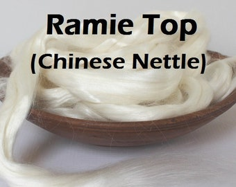 Ramie Top for Spinning Felting or Doll Hair Fiber Bast Fiber Fibers Undyed Plant Fibers Vegan Chinese Nettle Chinese Silk