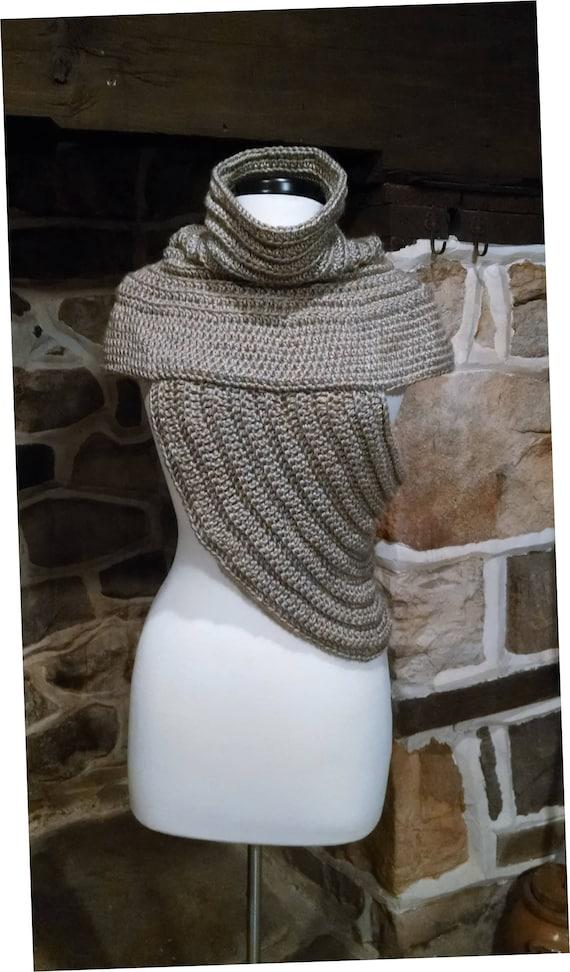 Huntress Crochet Pattern Katniss Archers Cowl Vest Etsy