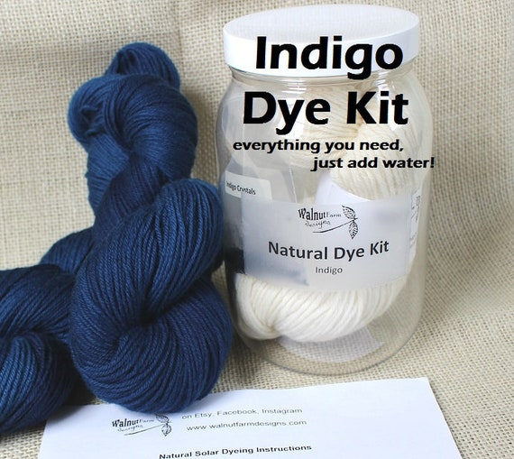 92daca92c Indigo Dye Kit for Indigo Solar Natural Yarn Dyeing with | Etsy