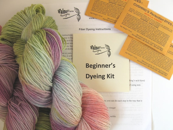 Yarn Dye Kit For Beginners Includes Dyes And Instructions Etsy