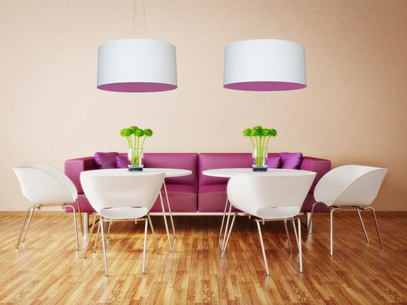 Lampenschirm 2side Violett 45cm Etsy