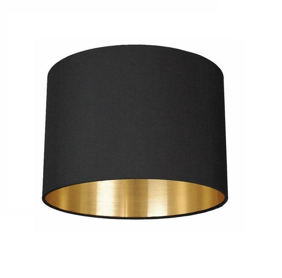 Lampenschirm 70 Cm Black Meets Gold Etsy