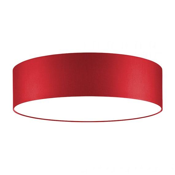 Lampe Rouge 30 Cm Diffuseur De Plafond Etsy
