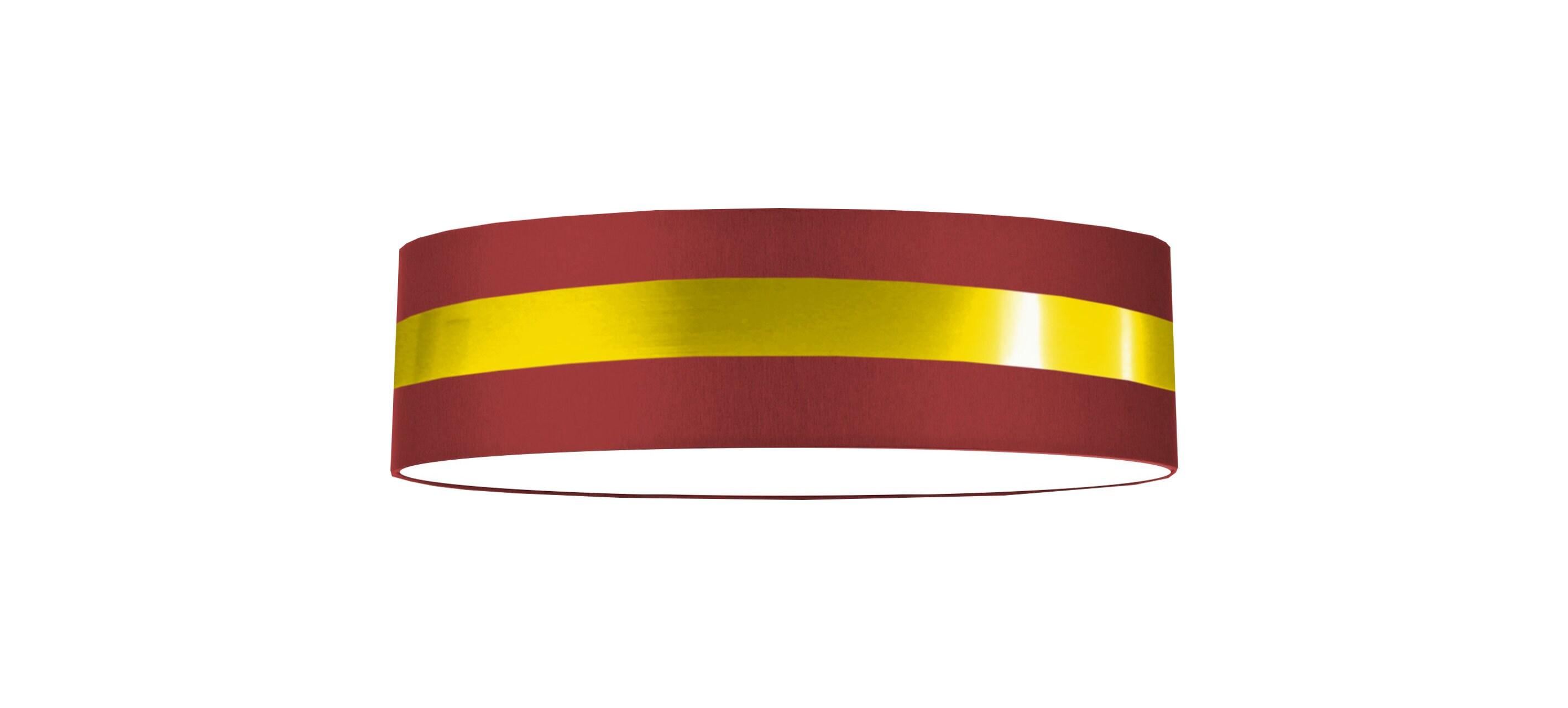 Ceiling Light 50 Cm Gold Stripe Red