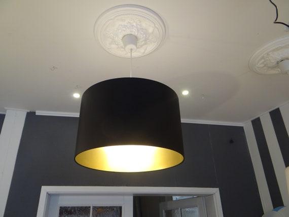Lamp Shade 60 Cm Black Meets Gold Etsy
