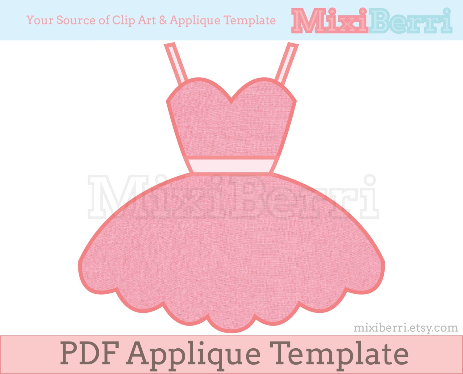 ballerina tutu dress appliqué template pdf applique pattern etsy