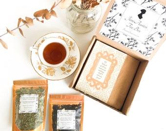 JANE AUSTEN Tea Gift Box | Pride and Prejudice + Sense and Sensibility Inspired Tea Box - Literary Tea, Book Theme Tea - Book Lover's Gift