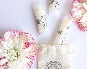 All Natural - Organic Lip Balms / Lip Butter / Lip Balm - Oval Tubes