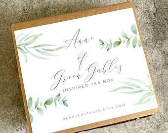 Anne of Green Gables Tea Gift Box | Anne of Avonlea Inspired Tea Box - Literary Tea, Book Theme Tea - Book Lover's Gift | Anne Shirley