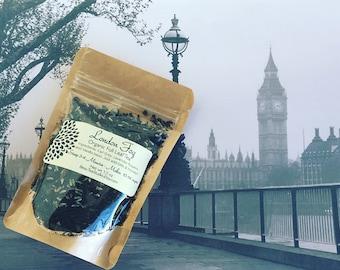 LONDON FOG Earl Grey | Vanilla Bean + Lavender Flowers  | Earl Grey Latte | Organic Tea | Black Tea | Hand-blended - Earl Grey Lover's Tea